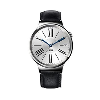 Huawei-Watch-Stainless-Steel-with-Black-Suture-Leather-Strap-US-Warranty-0