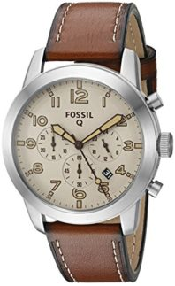 Fossil-Q-Pilot-Brown-Leather-Hybrid-Smartwatch-0